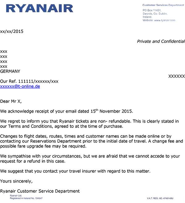 Ryanair zahlt Steuern und Gebühren bei Stornierung nicht zurück ...