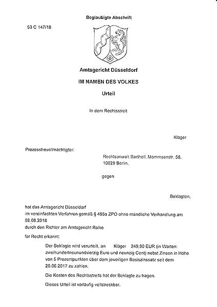 Erstberatung AG Dusseldorf